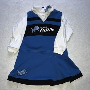 Detroit lions cheerleading outfit